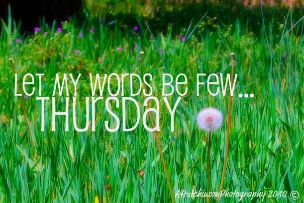A Few Words Thursday @ HOPEannFAITH