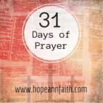 31 Days of Prayer